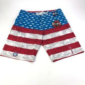 6aa379fab7987 Pelagic Swim | Sharkskin Americamo Fishing Board Shorts | Poshmark